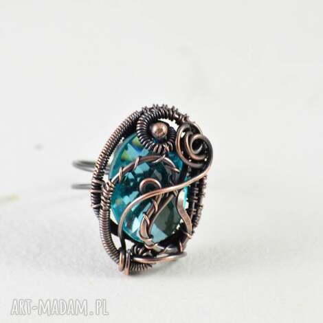 crystal - pierścionek z kryształekiem, pierścionek-regulowa, biżuteria-na-prezent