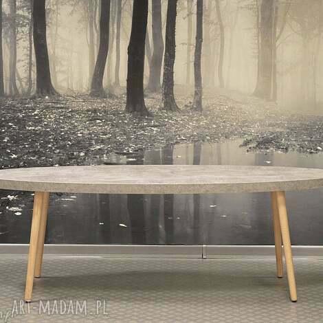 stolik kawowy kanu, stolik, kawowy, beton, drewno, loft, industrialny, prezent na