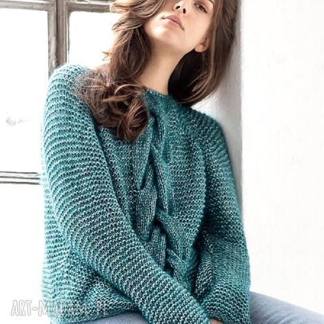 sweter lagoa, wełniany, ręcznie robiony, prezent, pulower