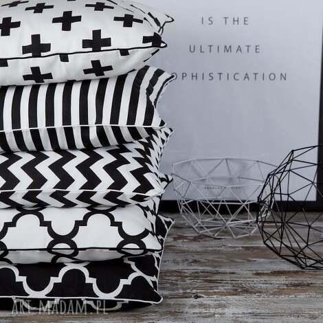 poduszki poszewka na poduszkę b w - 5 wzorów do wyboru, poduszka, poszewka, czarno