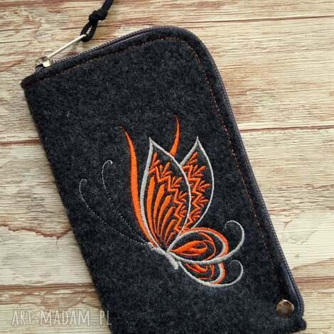 filcowe etui na telefon - motylek, etui, pokrowiec, smartfon, motyl, modne