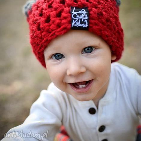 czapka triquensik 01 - dziecko, czapa, kolorowa zima ciepła