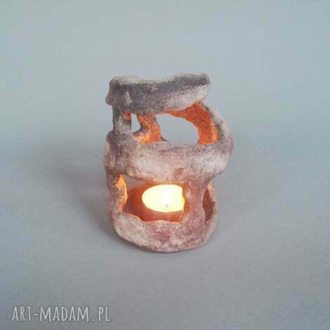 świeczniki świecznik labirynt, świecznik, dekoracja, wnętrze, unikatowy