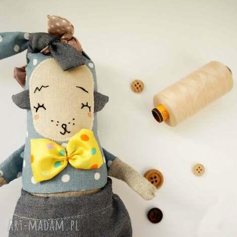 lalka z tkaniny - handmade - nutria monsterówna, lalka artystyczna, waldorfska