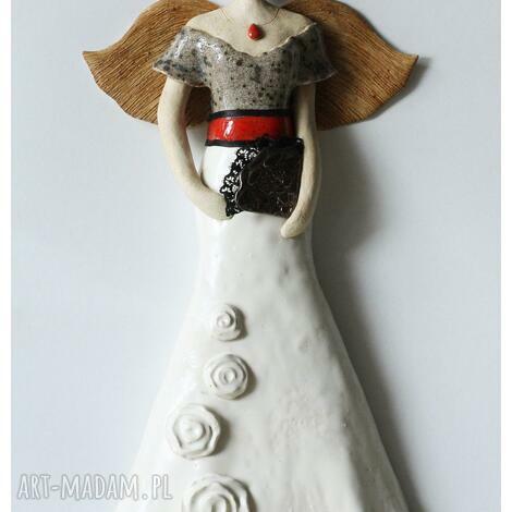 anioł meksykański, ceramika, anioł
