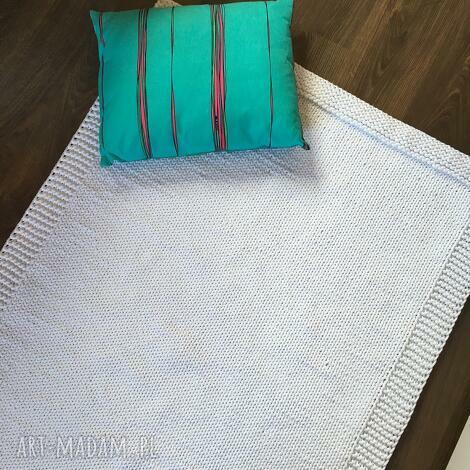 dywany dywan ze sznurka bawełnianego biały 100x140 cm, dywan, chodnik, sznurek, druty