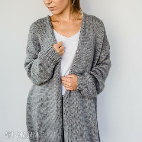 swetry kardigan oversize, oversize długi, rozpinany sweter