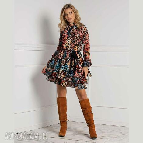 sukienka alia mini julita, mini, wzorzysta sukienka, jesień2020
