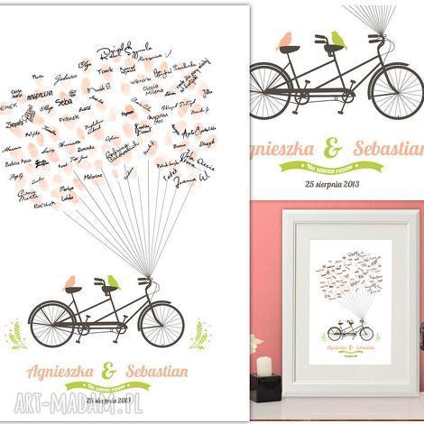 wiosenny rower wpisów - unikalny plakat gości weselnych 40x50 cm 3