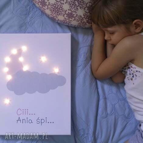 ŚwiecĄcy ksiĘŻyc gwiazda imiĘ lampa obraz prezent personalizowany