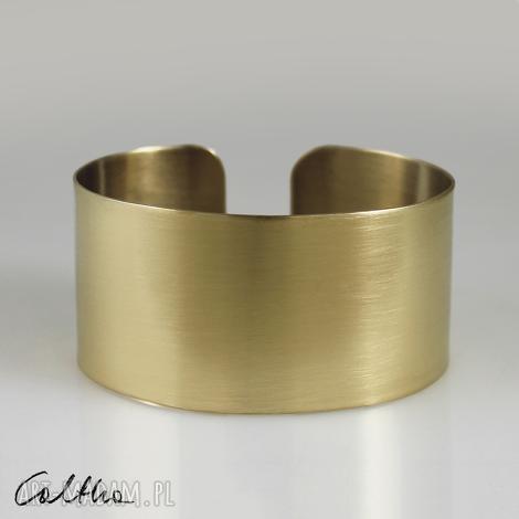 satyna - mosiężna bransoletka 140319-03 #, bransoletka, bransoleta, szeroka