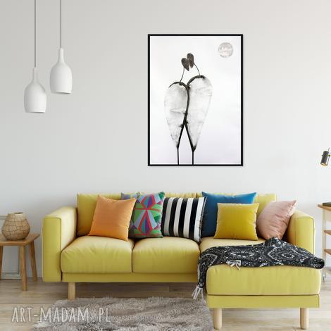 grafika 70x100 cm wykonana ręcznie, plakat, abstrakcja, elegancki minimalizm, obraz
