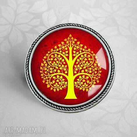 broszka drzewo serc - drzewko, drzewem, serca, modna, przypinka, stylowe