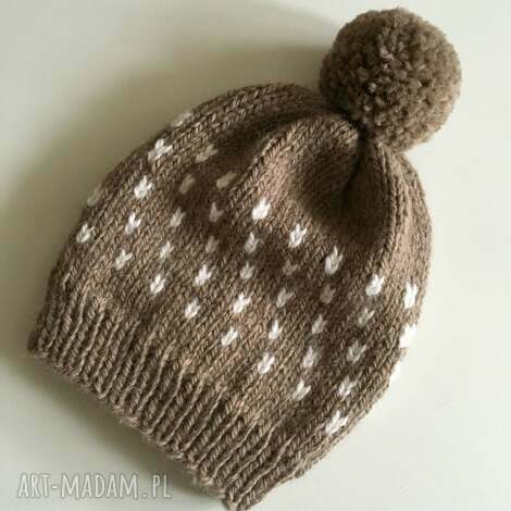 ciepła wełniana czapka, wełna, alpaka, wełniana, wool, beanie