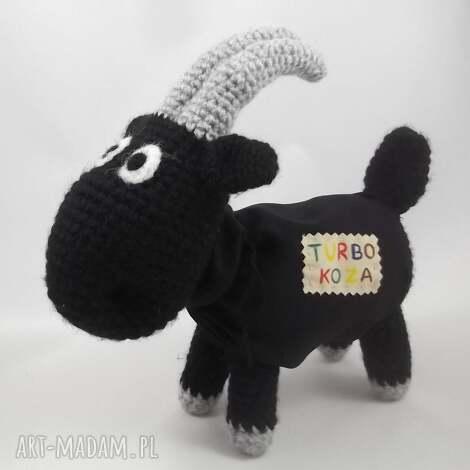 turbo koza, kózka, maskotka, zabawka, szydełkowa, oryginalna maskotki dla