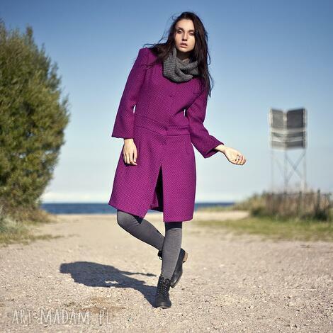 płaszcz tweed lena - płaszcz, wełna, tweed, zima, jesień, wygodne