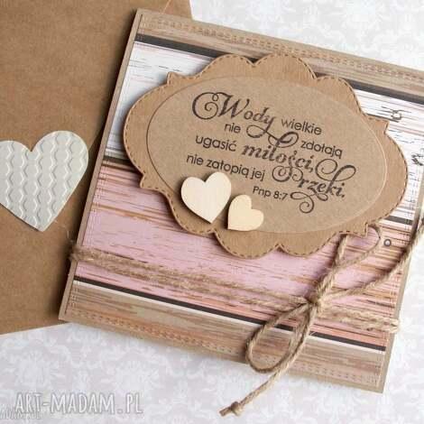 kartka ślubna eko wody wielkie wooden, ślub, ślubna