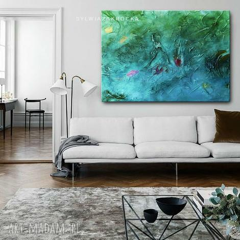 wielkoformatowe grubo fakturowane obrazy do salonu - obrazy do salonu, obrazy nowoczesne