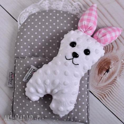 przytulanka dziecięca królik w beciku - królik-zabawka, królik-na-prezent