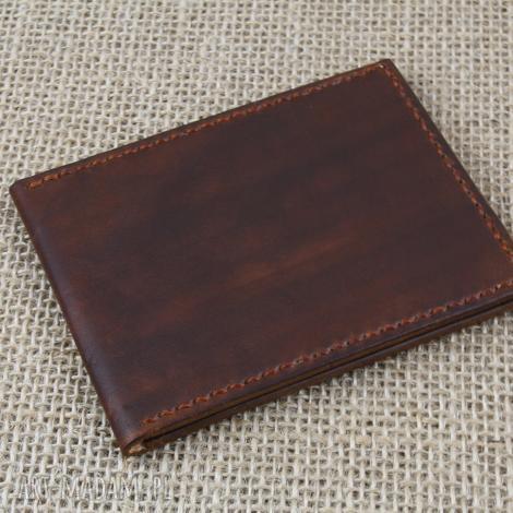 skórzany męski portfel, skóra, męski, prezent, urodziny, imieniny