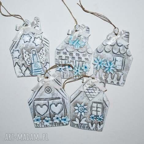ozdoby świąteczne nasze domki - ozdoba choinkowa, dom, dekoracja, prezent, gwiazdka
