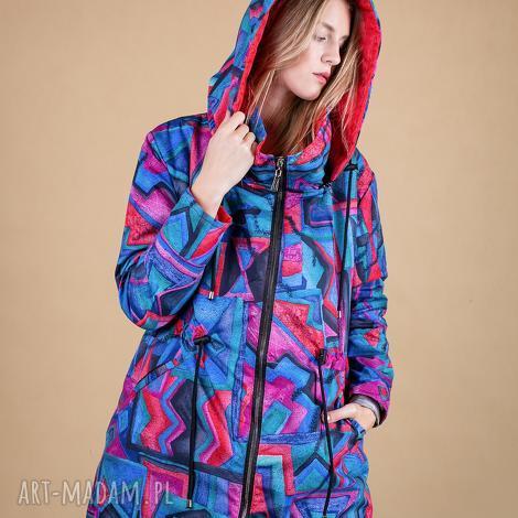 kurtka damska artistic pattern - spodnie dresowe, marynarki jesienne, sukienki, bluzy