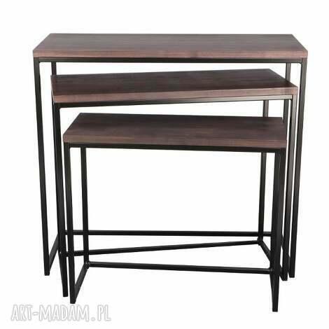 stoły konsola giewont m-xl, loft, scandi, drewno, konsola, bauhaus dom