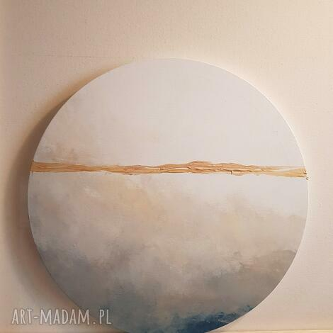abstrakcja-obraz akrylowy -średnica 40 cm, obraz, abstrakcja