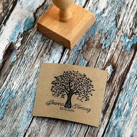 stemple stempel ex libris 50x50mm drzewo, stempel, exlibris, ślub, wesele