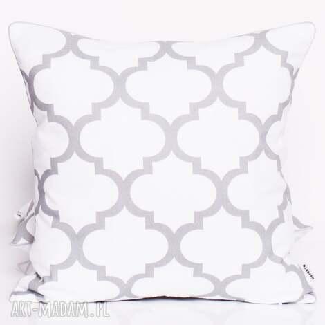poduszki poduszka fresh grey-white 50x50cm od majunto, koniczyna