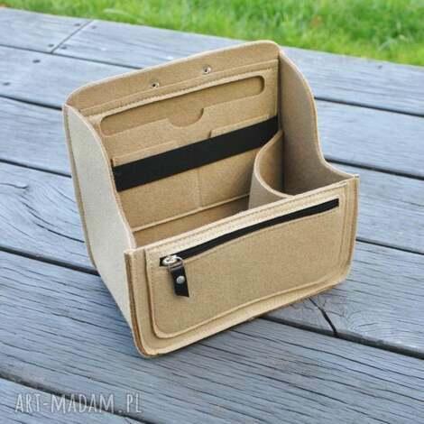 wkład do plecaka z filcu - beżowy mniejszy, plecaka, organizer