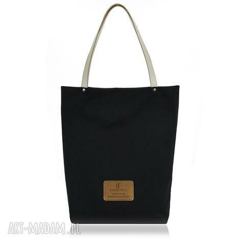 pod choinkę prezent, torebka shopperka 1008, shopperka, zakupowa, bawełniana, czarna