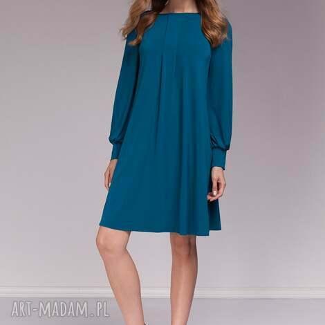 sukienka marion, moda, morska sukienki