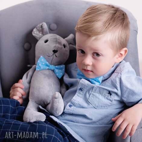 zabawki przytulanka dziecięca mysz w muszce, myszka-na-prezent, mysz-hand-made