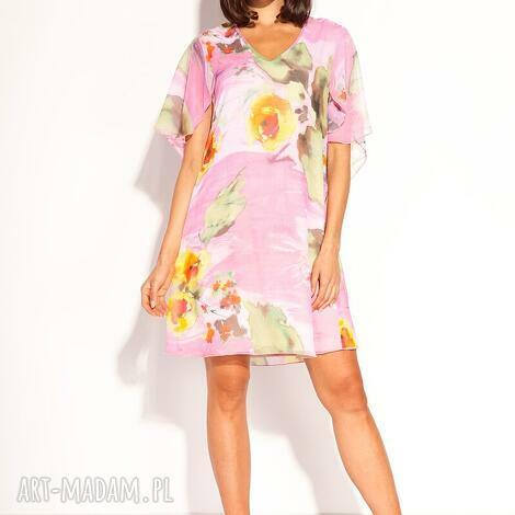 sukienka polla (pastelowa, zwiewna luźna, romantyczna, kolorowa, letnia)