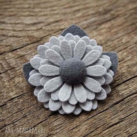 broszka - broszka, przypinka, kwiatek, filc, jesień