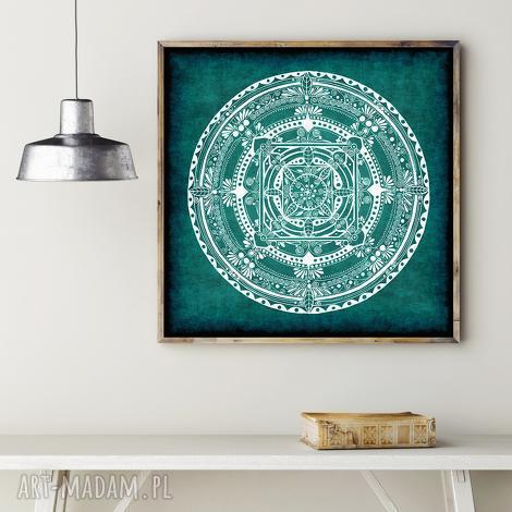 malgorzata domanska mandala turkusowa, mandala, plakat, rysunek dom