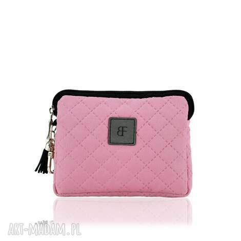 portfele portfelik simple 1146 różowy, portfelik, mały, pikowany
