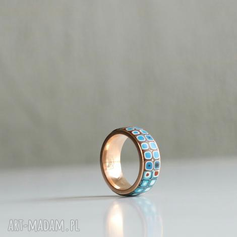 delikatna obrączka zecstali - obrączki, pierścionki, kolorowe, ombre, stal