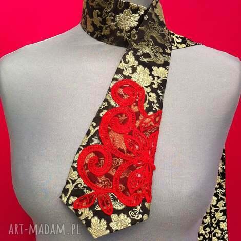krawat damski izabell, krawat, damski, smoki, kotonka