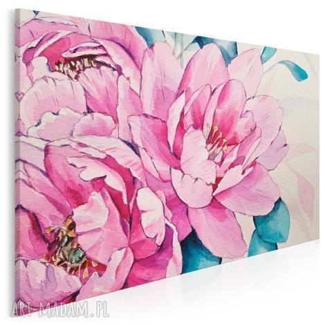 obraz na płótnie - kwiaty różowy kamelia 120x80 cm 87401, kamelia, kwiat, roślina