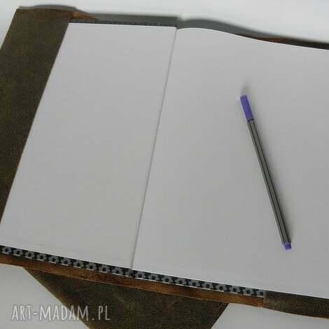 skórzana okładka na zeszyt notatnik a4, okładka, skóra, notatnik, vintage