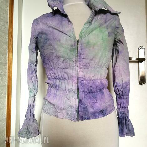 bluzki bluzka damska ręcznie farbowana ze ściągaczem hiszpanka