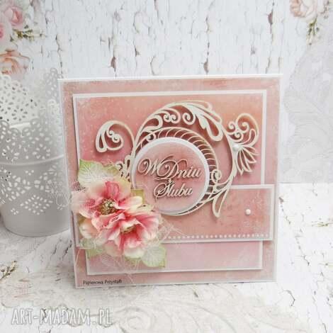 w dniu ślubu - kartka z pudełkiem kŚ2 - ślub, pudełko na ślub