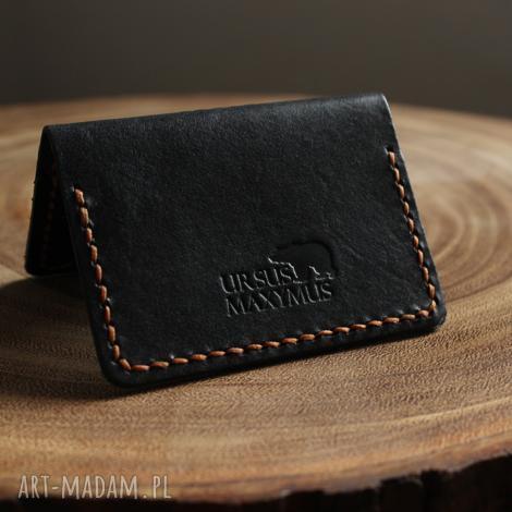 ursus maxymus ręcznie wykonany portfel na karty z naturalnej skóry bydlęcej