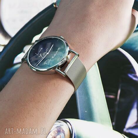 zegarki zegarek, bransoleta - live your dreams metalowy, bransoletka