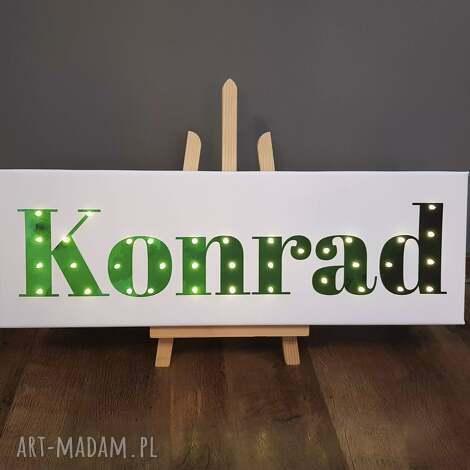 napis led twoje imię obraz dekoracja lampa personalizowany prezent dla chłopca dla