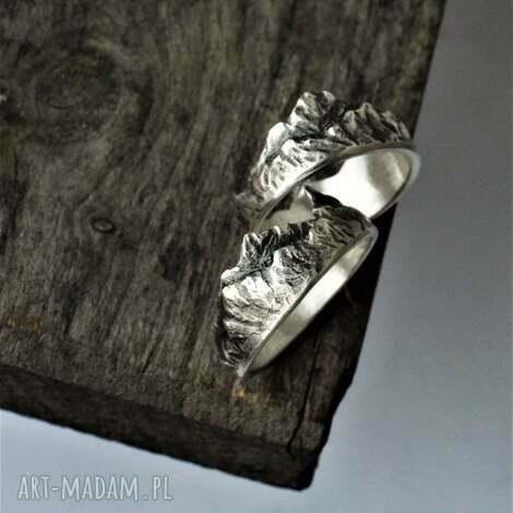 pierścionek z górami góry srebro tatromanik, pasmo górskie