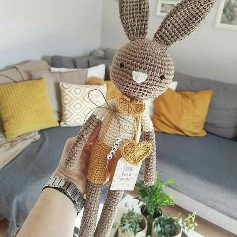 maskotki królik tadek - szydełkowy przyjaciel twojego dziecka, komunia