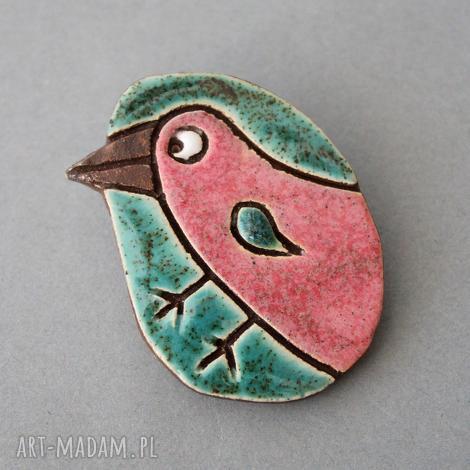 dziobak-broszka ceramika - minimalizm, design, skandynawski, kamień, ptak, urodziny